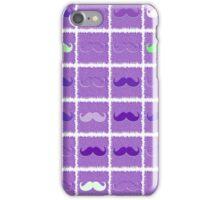 Funny Purple Mustache iPhone Case/Skin