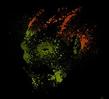Paint Splatter Street Fighter: Blanka by Arian Noveir