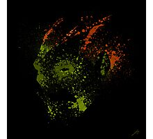 Paint Splatter Street Fighter: Blanka Photographic Print