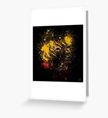 Paint Splatter Street Fighter: Ken Greeting Card
