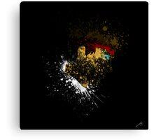 Paint Splatter Street Fighter: Ryu Canvas Print