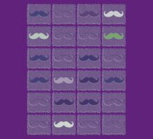 Funny Girly Mustache 3 by Nhan Ngo