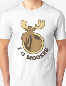 I Heart Mooses Tee T-Shirt