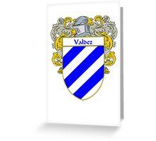Valdez Coat of Arms/Family Crest Greeting Card