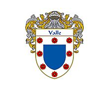 Valle Coat of Arms/Family Crest Photographic Print