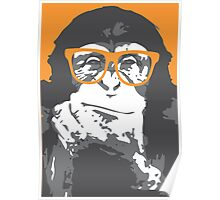 Monkey Hipster Poster