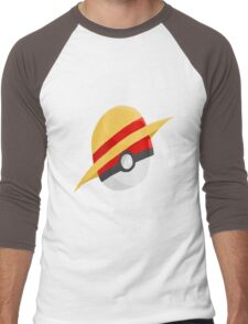 Pokeball and Luffy's hat Men's Baseball ¾ T-Shirt