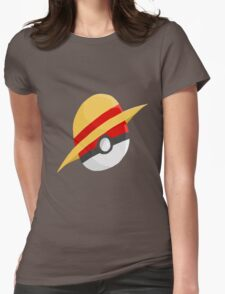 Pokeball and Luffy's hat Womens Fitted T-Shirt