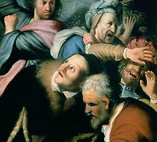 Christ Driving the Moneychangers from the Temple by Rembrandt by Bridgeman Art Library