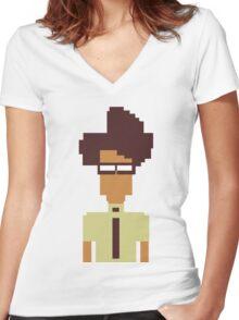 Moss Women's Fitted V-Neck T-Shirt