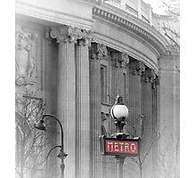 Paris Metro Grand Palais Photographic Print