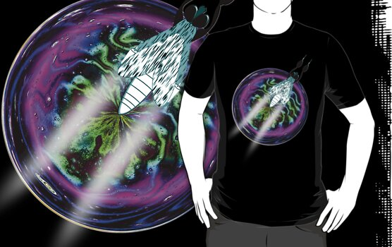 A Musca ship from the Cyclorrhapha Galaxy T-shirt by Dennis Melling