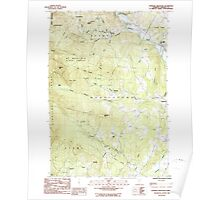USGS Topo Map  Vermont VT Sterling Mountain 337663 1986 24000 Poster