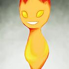 Flame Chibi (with background) by kinokofairy