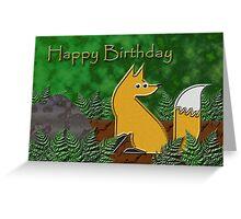 Happy Birthday Fox Greeting Card
