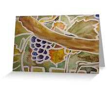 fruits and leaves Greeting Card