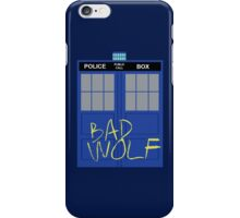 Tardis - Bad Wolf iPhone Case/Skin