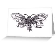 Steampunk Moth Greeting Card