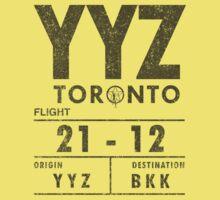YYZ Luggage Tag - Rush (Light Shirts) by oawan