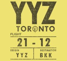 YYZ Luggage Tag - Rush (Light Shirts) by oawan