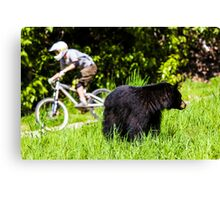 Mountain biking in Whistler, Canada Canvas Print