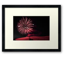 Summit fireworks Framed Print
