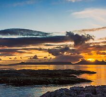 Sunset over the Inner Hebrides by Hugh McKean