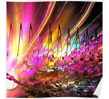Sun dance, abstract fractal art Poster