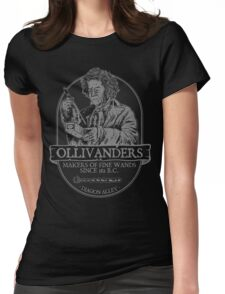 Ollivanders fine wands Womens Fitted T-Shirt