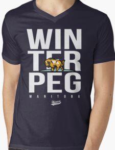 WinTerPeg Mens V-Neck T-Shirt