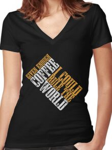 Rule The World Women's Fitted V-Neck T-Shirt