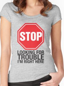 Stop looking Women's Fitted Scoop T-Shirt