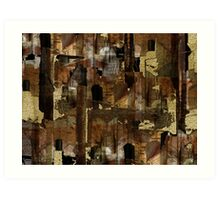 Abstraction from destruction Art Print