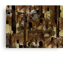 Abstraction from destruction Canvas Print