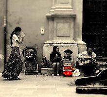 Granada street life ..boy with his red truck by Debra Kurs