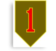 1st Infantry Division, US Army Canvas Print