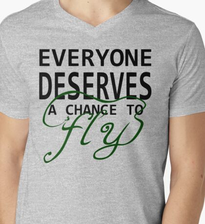 Everyone Deserves a Chance to Fly Mens V-Neck T-Shirt