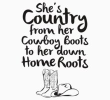 Country From Her Cowboys Boots To Her Down Home Roots by Look Human