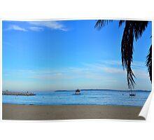Beach  in le lavandou  var cote d'azur provence, France Poster