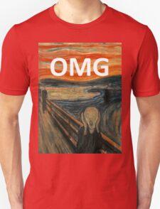 OMG The Scream Funny Shirt  Unisex T-Shirt