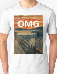 OMG The Scream Funny Shirt  Unisex T-Shirt