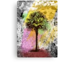 Grunge Palm Tree T-Shirt - Art Prints - Stickers Canvas Print
