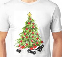 Santa Under Christmas Tree Unisex T-Shirt