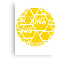 One Love One Heart Collection Canvas Print