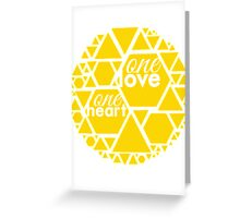 One Love One Heart Collection Greeting Card