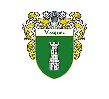 Vasquez Coat of Arms/Family Crest Photographic Print