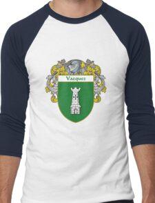Vazquez Coat of Arms/Family Crest Men's Baseball ¾ T-Shirt
