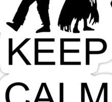 Keep Calm And Splatter Zombies Sticker