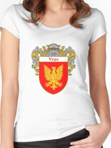 Vega Coat of Arms/Family Crest Women's Fitted Scoop T-Shirt