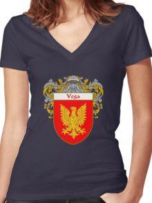 Vega Coat of Arms/Family Crest Women's Fitted V-Neck T-Shirt
